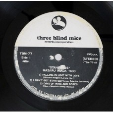 Masaru Imada Trio ‎– Standards (Three Blind Mice ‎– TBM-77) 1St Press  without Cover  ( LP )